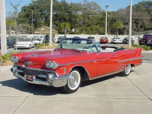 Кадиллак 1958 red cadillac convertible 1