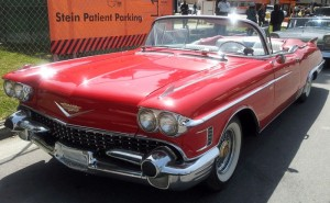 Кадиллак 1958 red cadillac convertible 2