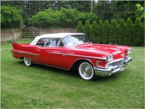 Кадиллак 1958 red cadillac convertible 3
