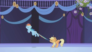 Applejack_restrains_Rainbow_Dash_S01E02